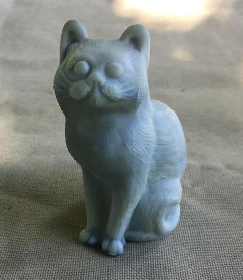 Gray Mosser Sitting Cat